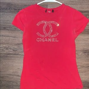 Red Chanel shirt